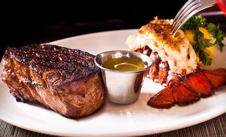 $20 Worth of Steakhouse Fare and Seafood at Lunch - Halo Steak Seafood and Wine Bar in Calgary