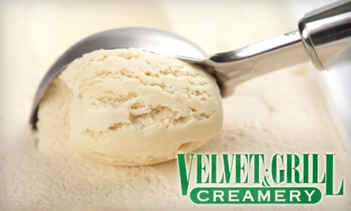 Velvet Grill & Creamery - Multiple Locations: $8 for $16 Worth of Burgers, Breakfast, Drinks, and More at Velvet Grill & Creamery