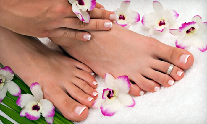 Liberty Design Beauty Salon - Convention Center: Deluxe Pedicure or Deluxe Mani-Pedi at Liberty Design Beauty Salon (Up to 53% Off)