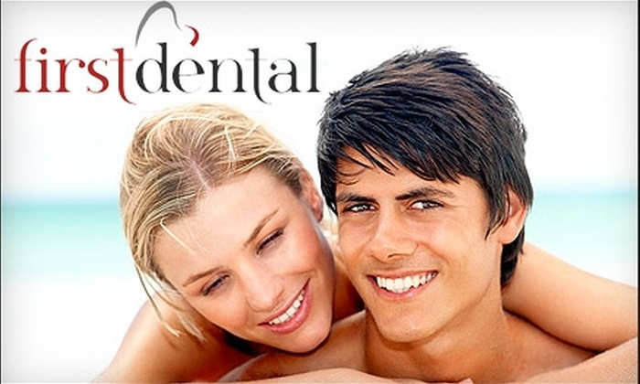 First Dental - Multiple Locations: $99 for an Exam, X-Rays, Teeth Cleaning, and Custom-Molded Teeth Whitening Trays and Whitening Gel from First Dental