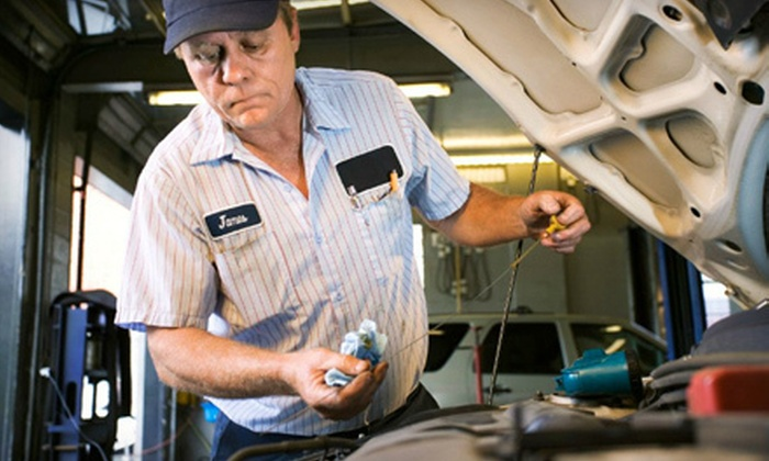 Bruce Scher's Goodyear - Multiple Locations: Synthetic-Oil-Change Package or a Tire-Maintenance Package at Bruce Scher's Goodyear (53% Off)