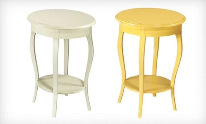Home Decorators Collection: $89 for a Hamilton Accent Table in Candlelight or Warm Gold. Shipping Included ($149 Total Value).