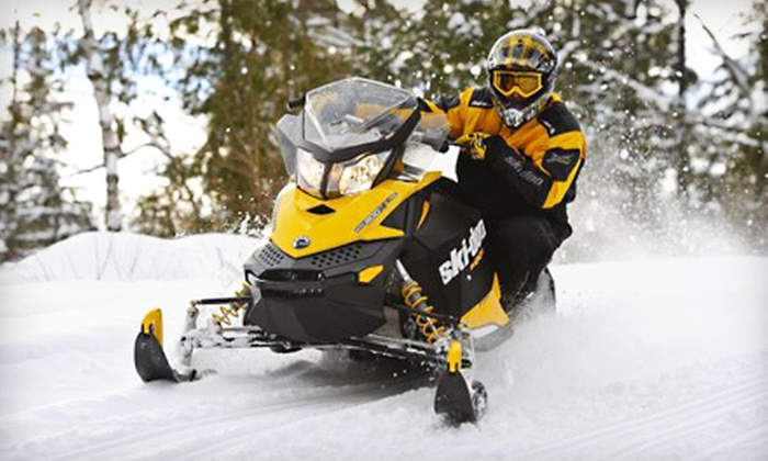 Let's Ride Rentals - Dixville: Two-Hour Snowmobile Tour Sunday–Friday or on Saturday with Lunch from Let's Ride Rentals in Dixville (Up to 55% Off)