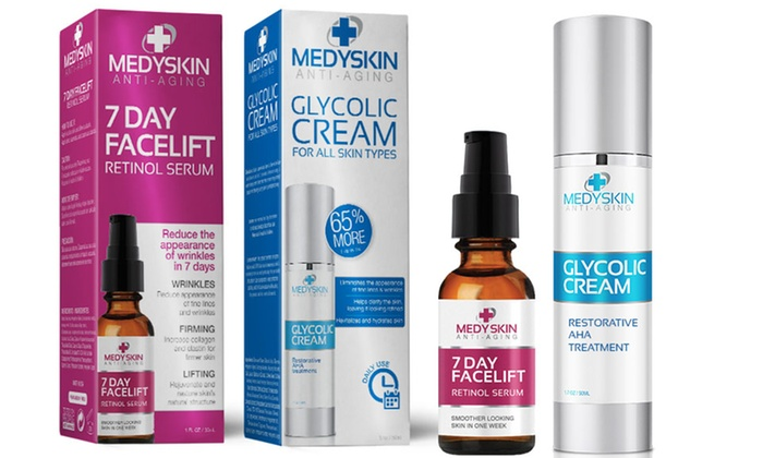 medyskin anti-aging glycolic cream restorative aha treatment 1.7 fl oz for all skin types Face Cleansing Oil Unscented - 2 fl. oz. by Badger (pack of 2)