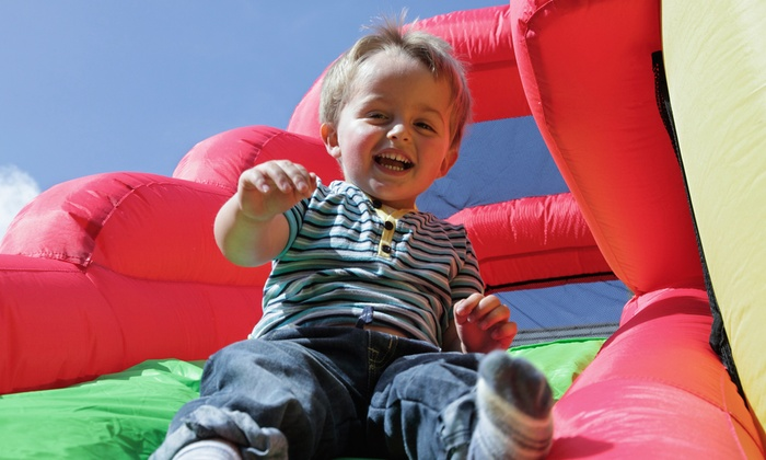 Kingdom Inflatables - Marlow Heights: $199 for a Four-Hour Bounce-House Rental with Snow-Cone Machine and PA System from Kingdom Inflatables ($400 Value)