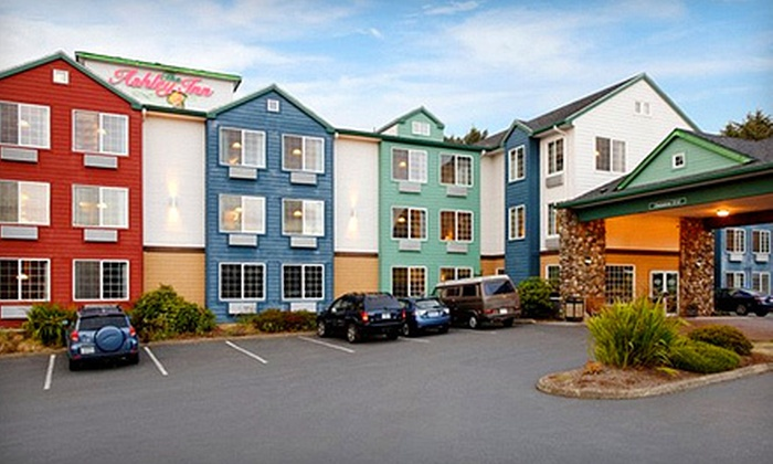 Ashley Inn and Suites - Lincoln City, OR: $147 for a Two-Night Stay for Two with Movies and Popcorn at Ashley Inn and Suites in Lincoln City (Up to $323 Value)