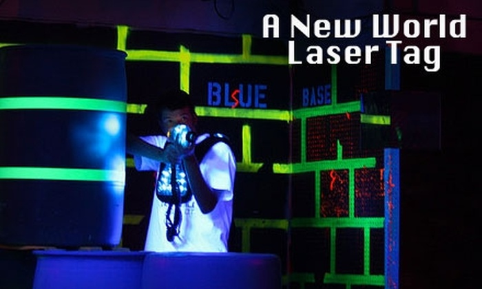 A New World Laser Tag and Underworld Gaming - Hartford: $10 for Two Laser Tag Games and One Hour of Digital Gaming at A New World Laser Tag and Underworld Gaming