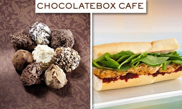 ChocolateBox Cafe - Multiple Locations: $10 for $20 Worth of Chocolates, Gelato, Sandwiches, and More at ChocolateBox Cafe