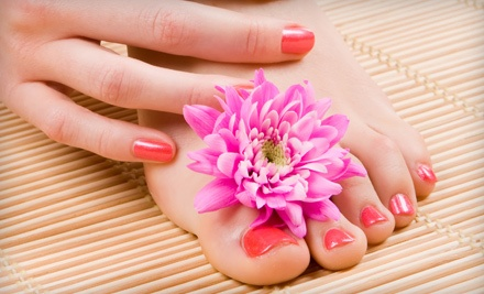 Basic Manicure and Spa Pedicure (a $67 value) - Allure Salon & Spa in Leominster