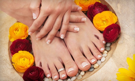 Shellac Manicure and Hot Stone Pedicure (a $70 value) - Karina's Nails in Memphis