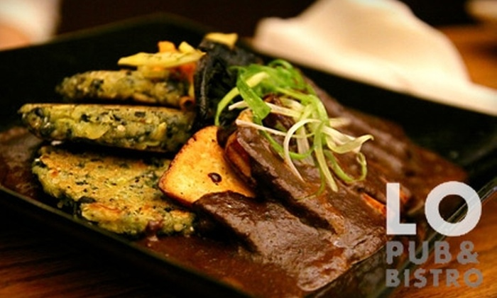 The Lo Pub & Bistro - Downtown Winnipeg: $7 for $15 Worth of Hearty Vegetarian Fare and Drinks at The Lo Pub & Bistro