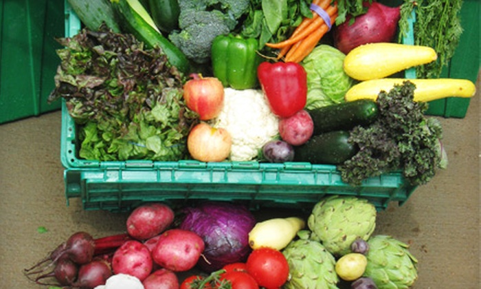 Grant Family Farms - Multiple Locations: $25 for One Organic Produce Box from Grant Family Farms in Wellington ($54.14 Value)