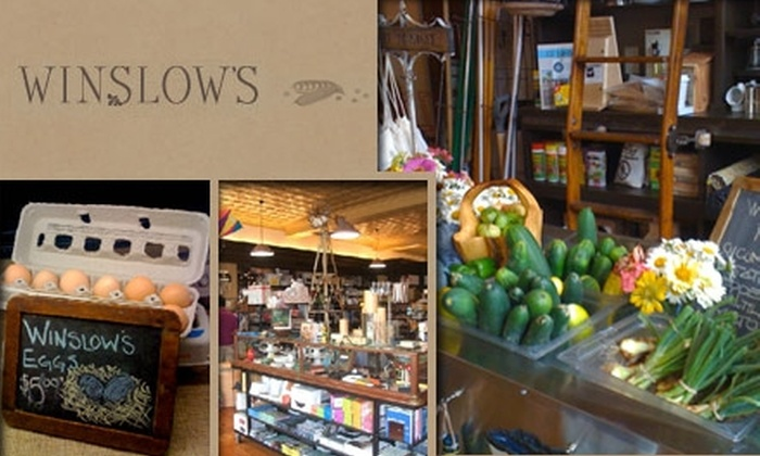 Winslow's Home - University City: $8 for $20 Worth of Farm-Fresh Eats and General Store Goods at Winslow's Home