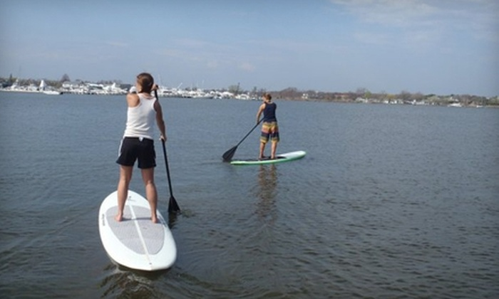 Fire Island Kite and SUP - Ocean Beach: $50 for a Two-Hour Standup-Paddleboarding Lesson from Fire Island Kite and SUP in Ocean Beach ($100 Value)