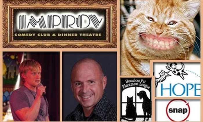Homeless & Orphaned Pets Endeavor - Spring Branch East: $20 Ticket to Canines and Cats Comedy Hour Fundraiser on January 27 at the Improv Comedy Club
