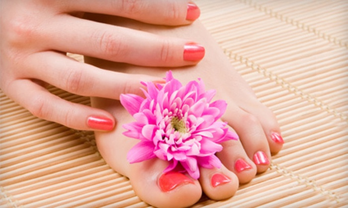 Alimony's Hair and Nail Salon - Knoxville: Haircut and Conditioning, Mani-Pedi, or Acrylic Nails with Nail Art at Alimony's Hair and Nail Salon (Up to 57% Off)