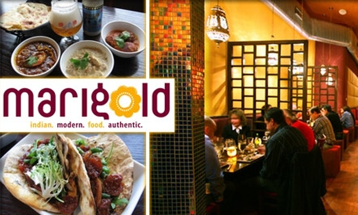 Marigold Restaurant - Uptown: $20 for $45 Worth of Indian Cuisine and Drinks at Marigold