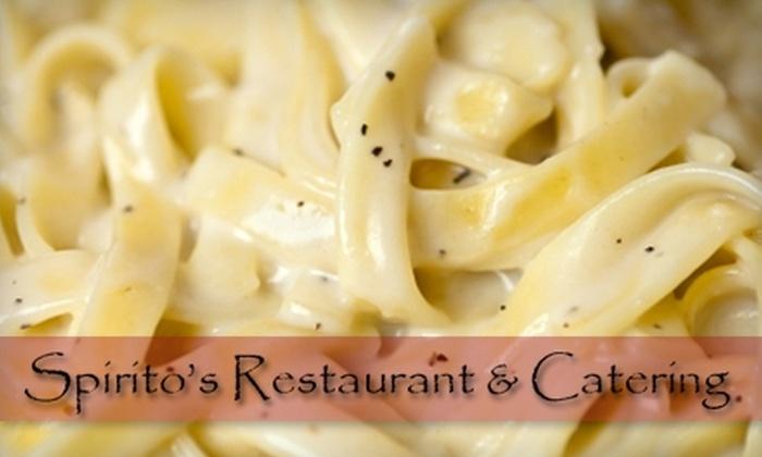 Spirito's Restaurant - Federal Hill: $15 for $30 Worth of Italian Cuisine at Spirito's Restaurant