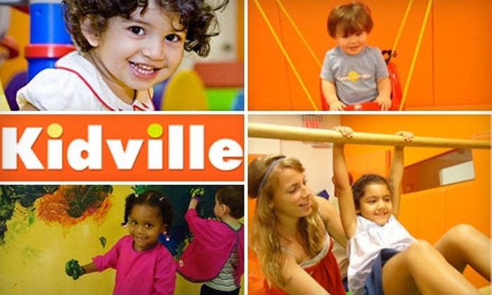 Kidville - Multiple Locations: $65 for Three Classes, Ten Playspace Passes, and One Child's Haircut at Kidville ($369 Value)