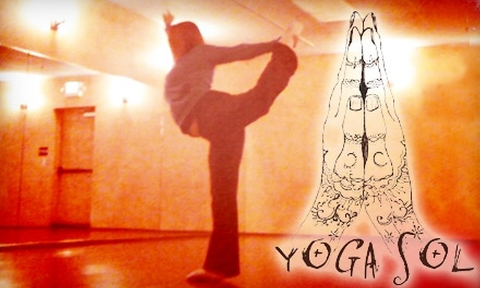 Yoga Sol - Concord: $40 for Two Months of Yoga TRiX Classes or One Month of Yoga Boot Camp at Yoga Sol in Concord (Up to $150 Value)