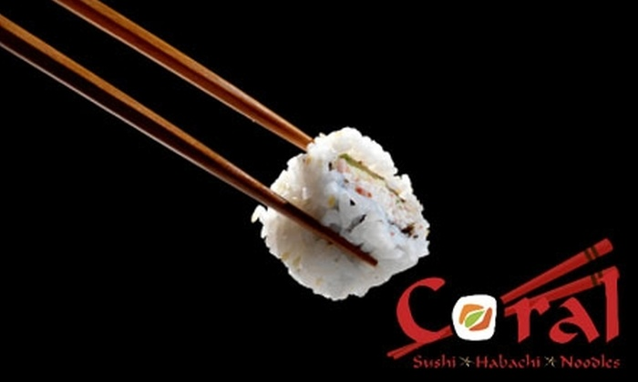 Coral Sushi - Huntersville: $15 for $30 Worth of Sushi, Hibachi, Noodles, and More at Coral Sushi