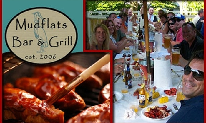 Mudflats Bar & Grill - Galena: $10 for $20 Worth of Pub Grub and Drinks at Mudflats Bar & Grill