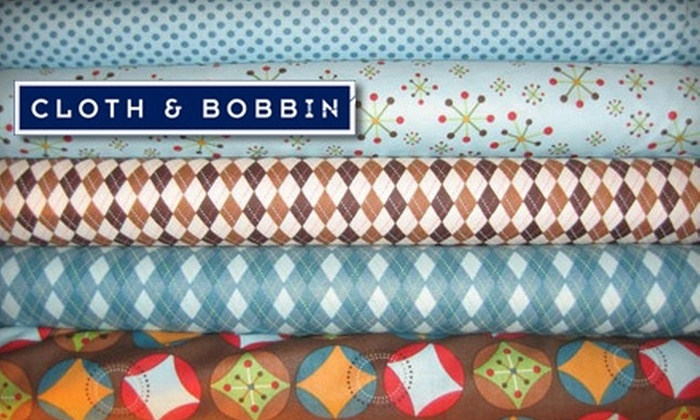 Cloth & Bobbin - Narberth: $25 for $50 Worth of Designer Fabric from Cloth & Bobbin in Narberth
