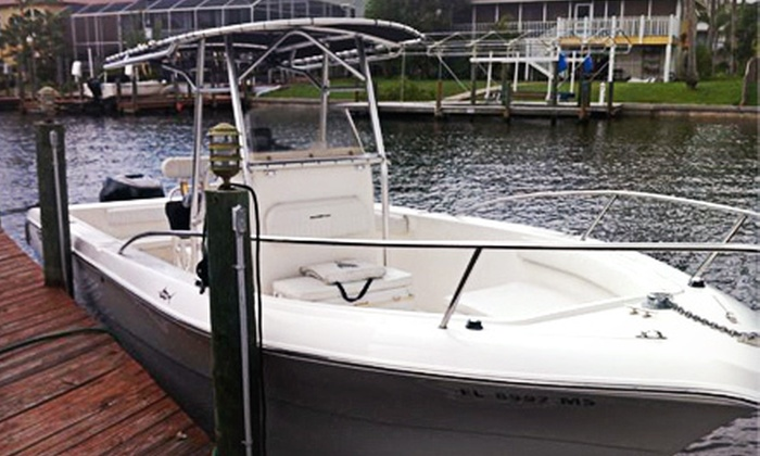 Belle Harbour Boat Rentals - Tarpon Springs: Eight-Hour Rental of a 17- or 26-Foot Center-Console Boat from Belle Harbour Boat Rentals (Up to 52% Off)