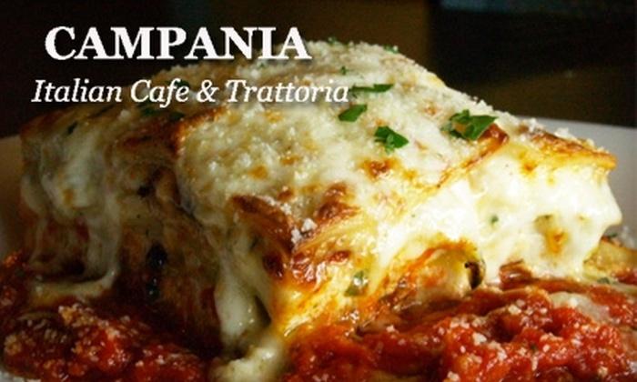 Campania Italian Café & Trattoria  - Davidson: $10 for $20 Worth of Italian Fare at Campania Italian Café & Trattoria