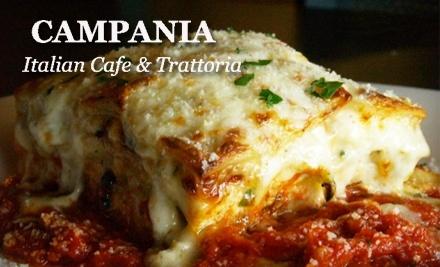 $20 Groupon to Campania Italian Cafe & Trattoria - Campania Italian Cafe & Trattoria  in Davidson