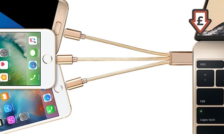 3-in-1 Charge and Sync Cable