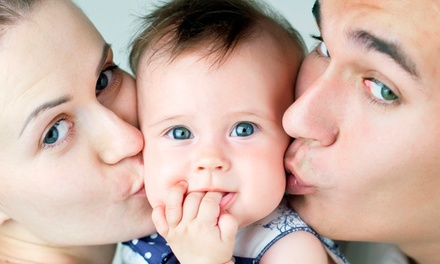 Family Photoshoot With Two Prints for £19 at V Studio