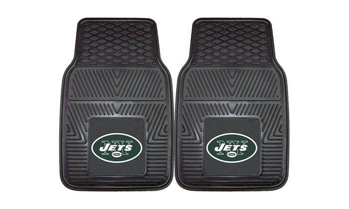 New York Jets Heavy-Duty Vinyl Car Mat Set: New York Jets Heavy-Duty Vinyl Car Mat Set