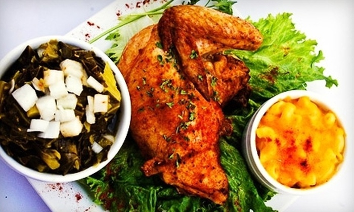 Who's Got Soul Southern Cafe - Multiple Locations: Lunch for Two or Dinner for Two or Four at Who's Got Soul Southern Cafe (Half Off)