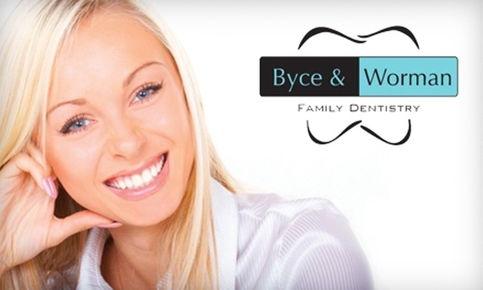 Byce and Worman Family Dentistry - Madison: $60 for Exam, X-Rays, and Cleaning (a $344 Value) or $150 for In-Office Laser Teeth Whitening Treatment (a $300 Value) at Byce and Worman Family Dentistry