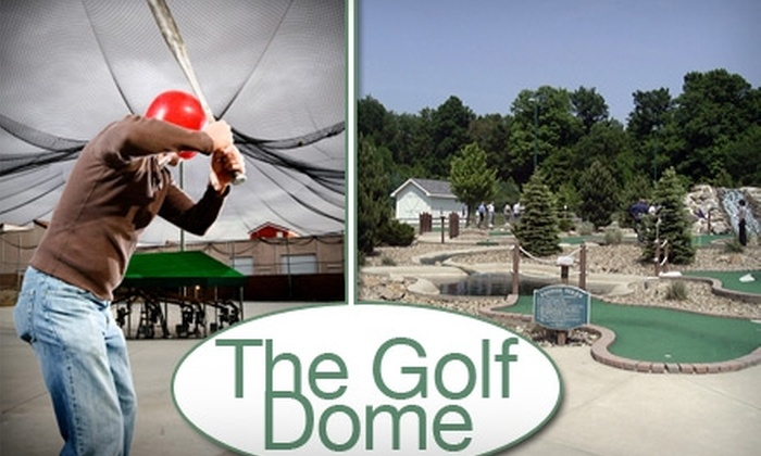 The Golf Dome - Auburn: $12 for Choice of Either Four Rounds of Mini-Golf or 24 Batting-Cage Tokens at The Golf Dome