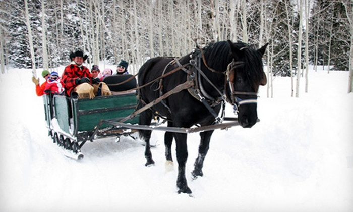 Blue Sky Adventures - Wanship: Wagon or Sleigh Ride with Hot Cocoa or Cider for 2, 4, 6, or 10 from Blue Sky Adventures in Wanship (Up to 56% Off