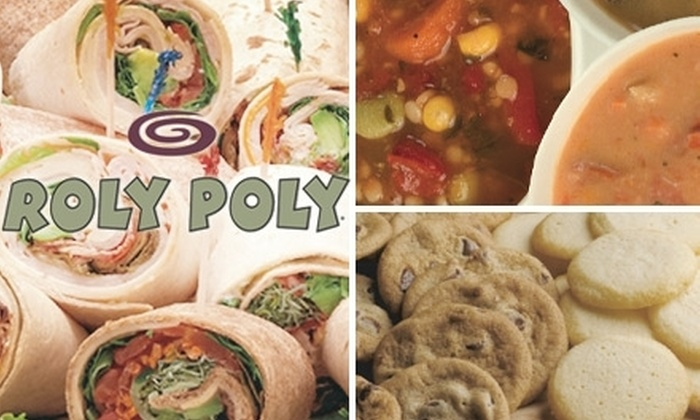 Roly Poly - Multiple Locations: $5 for $10 Worth of Rolled Sandwiches, Soups, and More at Roly Poly