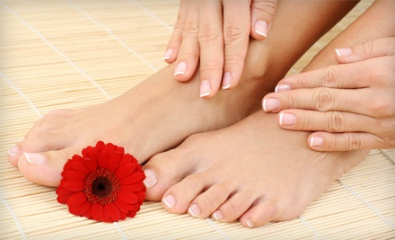 Regular Manicure ($39 value) and Pedicure (a $49 value; $98 total value) - Safra Day Spa in Victoria