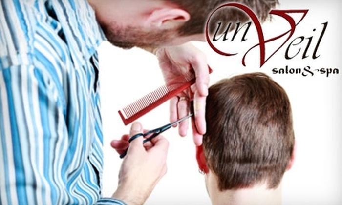Unveil Salon & Spa - Welland: $9 for a Men's Cut ($18 Value) or $16 for a Women's Cut and Style ($33 Value) at Unveil Salon & Spa in Welland