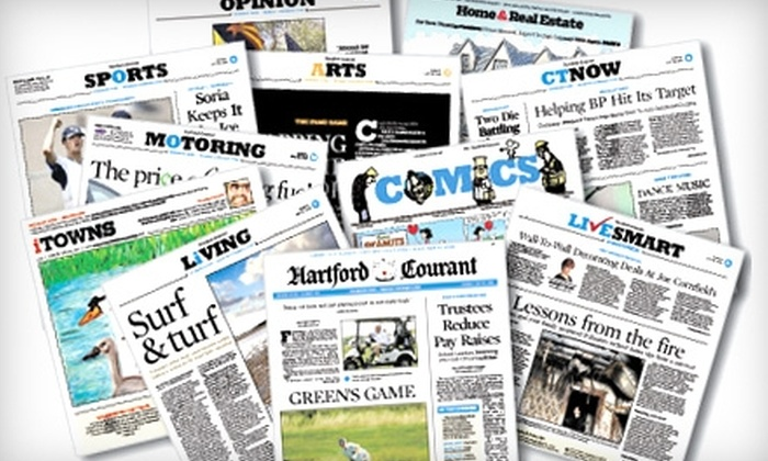 "Hartford Courant - Farmington: $25 for a One-Year Thursday–Sunday Subscription to the ""Hartford Courant"" (Up to $184.60 Value)"