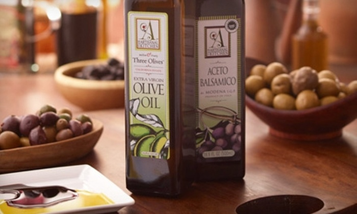 The Artisanal Kitchen: $19 for 500 ml Bottle of Extra-Virgin Olive Oil and a 500 ml Bottle of Balsamic Vinegar at The Artisanal Kitchen ($38 Value). Gourmet Gift Basket Also Available.