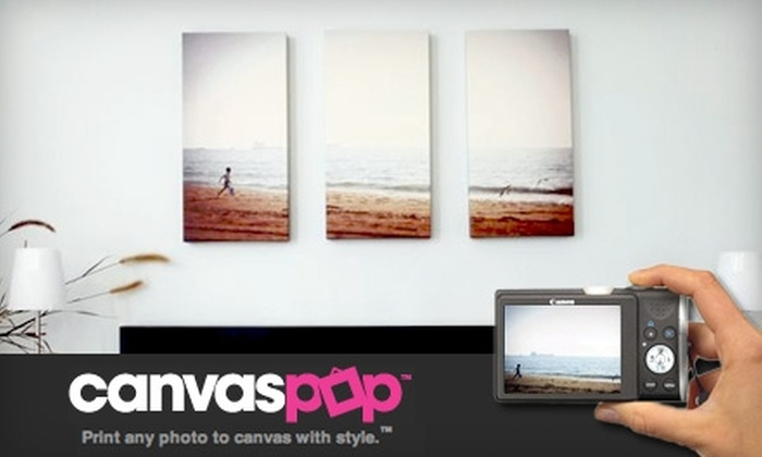CanvasPop (National) - Calgary: $40 for $80 Worth of Custom Photo Canvas Printing from CanvasPop