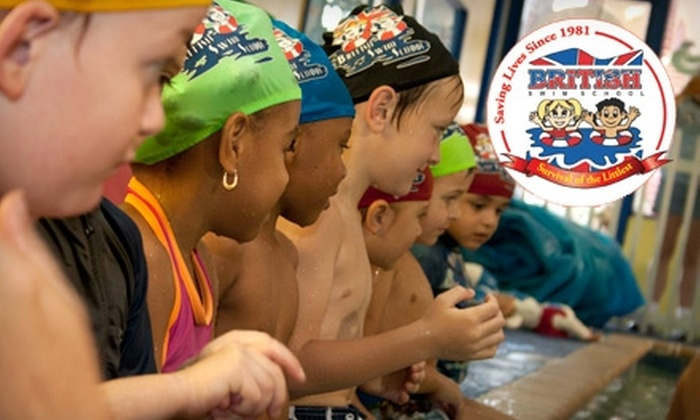 British Swim School - Multiple Locations: $61 for One Month of Group Swimming Lessons at British Swim School