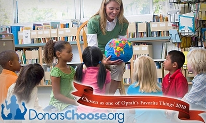 donorschoose.org: Boost Your Charitable Donation to DonorsChoose.org by 60%, Starting at $10 for $25 Worth of Aid for Public School Projects