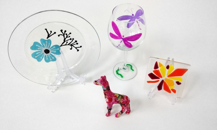 So Crafty Art Studio - North Palm Beach: Glass-Fusion or Decoupage Workshop for 1 or 2, or a Glass-Painting Party at So Crafty Art Studio (Up to 67% Off)