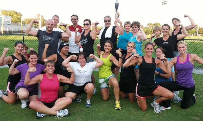 West Coast Boot Camp - Lake Park: 12 or 6 Boot-Camp Classes at West Coast Boot Camp (Up to 51% Off)