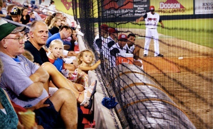 Carolina Mudcats Game for Two or Four at Five County Stadium (Up to 75% Off)