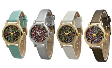 Geneva Women's Confetti-Face Watches