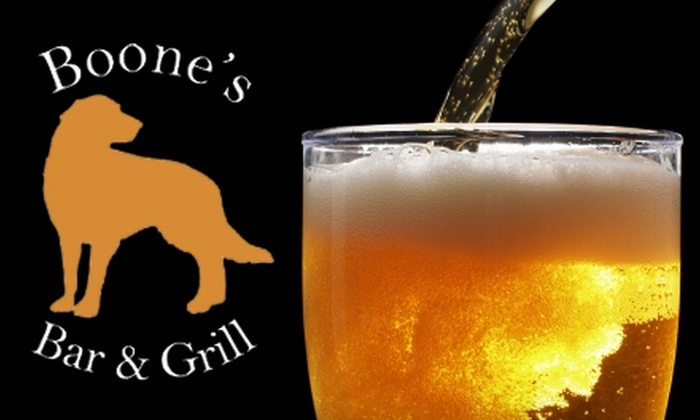 Boone's Restaurant & Bar - Downtown: $15 for $30 Toward Dinner Fare or $7 for $15 Toward Lunch at Boone's Restaurant & Bar